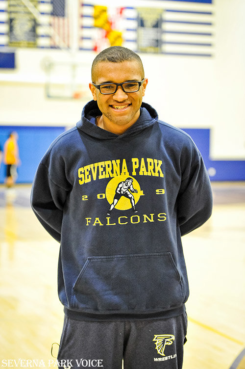 William Toepper, a senior heavyweight wrestler at Severna Park High School, sealed a team victory for the Falcons on January 24 by defeating his Northeast opponent by pin in his first-ever varsity bout.