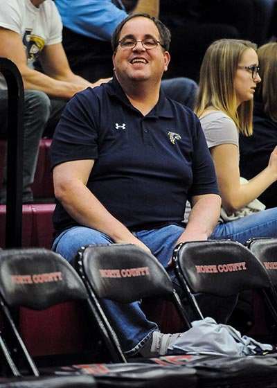 Severna Park's Kenny Elgert is a fixture at Falcon games as one of the most devoted supporters of Severna Park athletics.