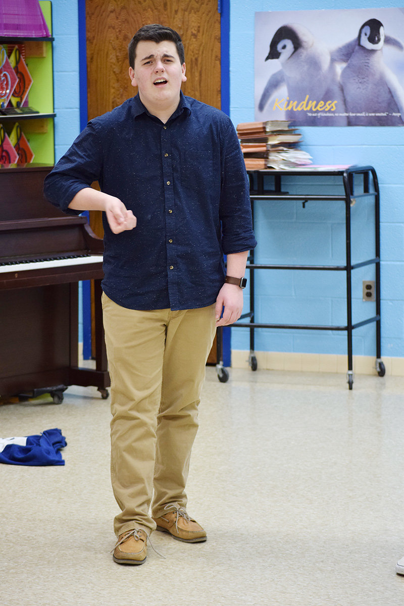 Alex Brown, a sophomore at CHS, is one of the 15 members of Evolve, the school's a cappella group.