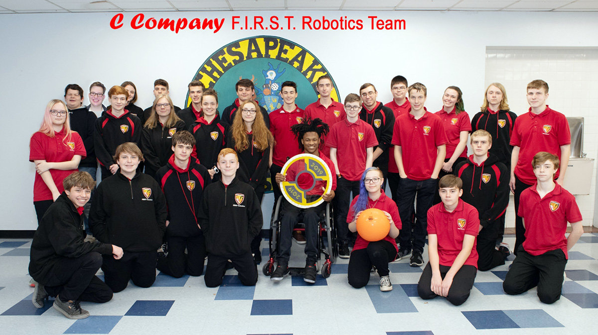 There are currently 31 student members of Chesapeake High School's FIRST Robotics team.