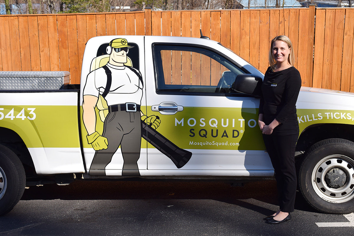 Kendra Burnett, owner of Mosquito Squad, is celebrating 10 years of business in Severna Park.