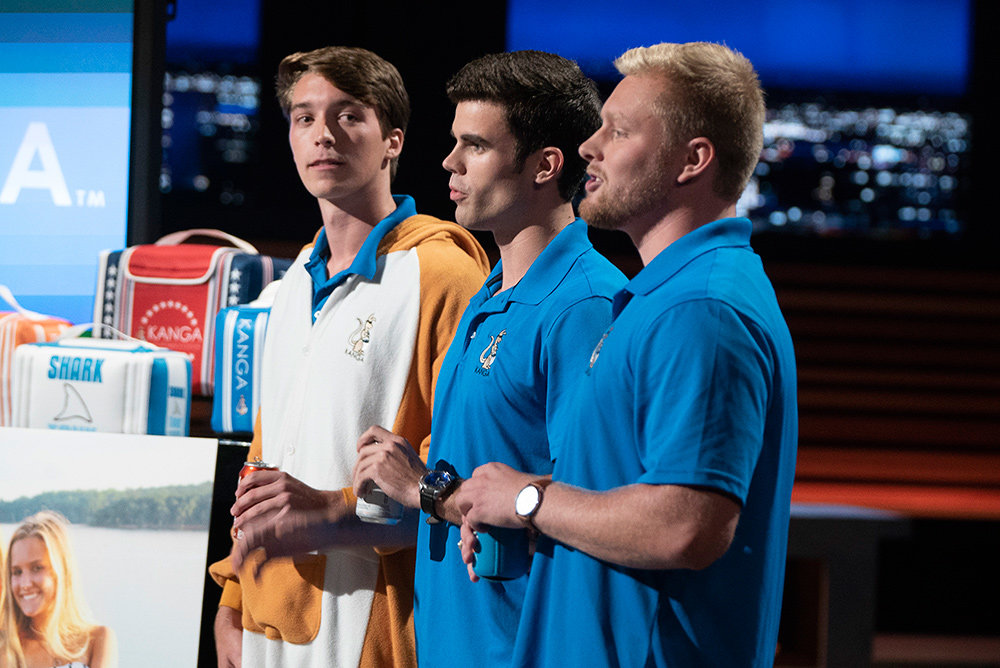 "In a ""Shark Tank"" episode that aired in April, Teddy Giard, Austin Maxwell and Logan LeMance pitched their product Kase Mate, an iceless cooler designed to fit around an entire case of beverages."