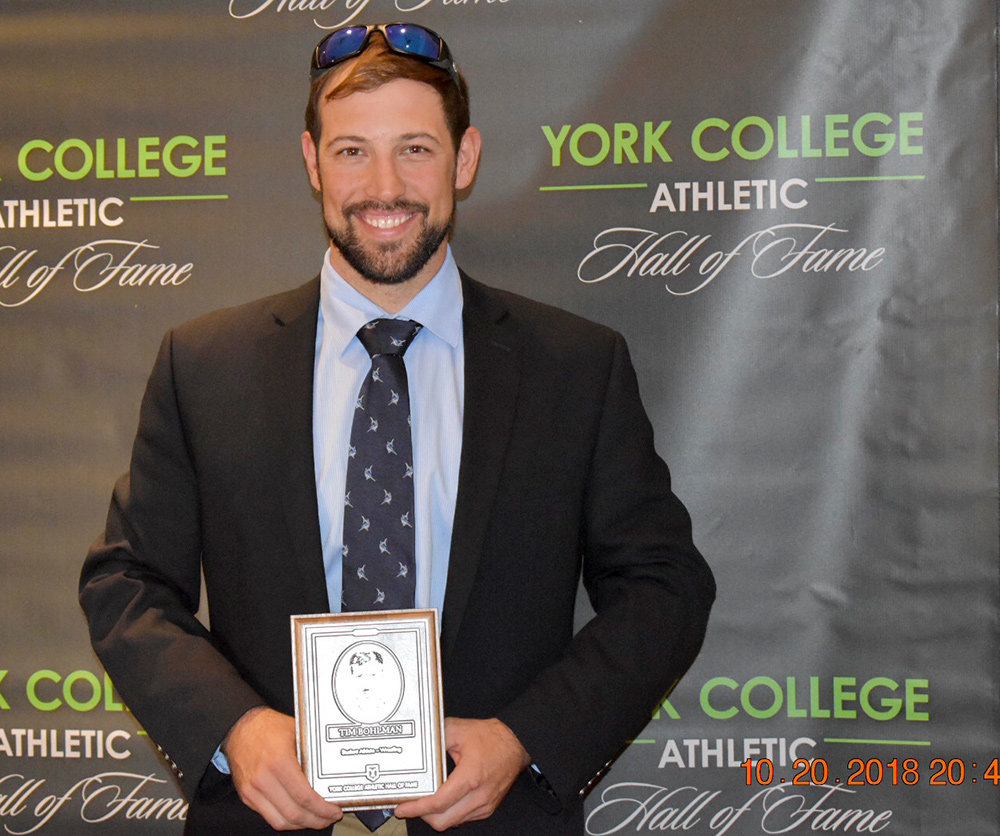 Tim Bohlman grew up in Sillery Bay and went on to become a two-time wrestling All-American and three-time national qualifier while at York College of Pennsylvania.