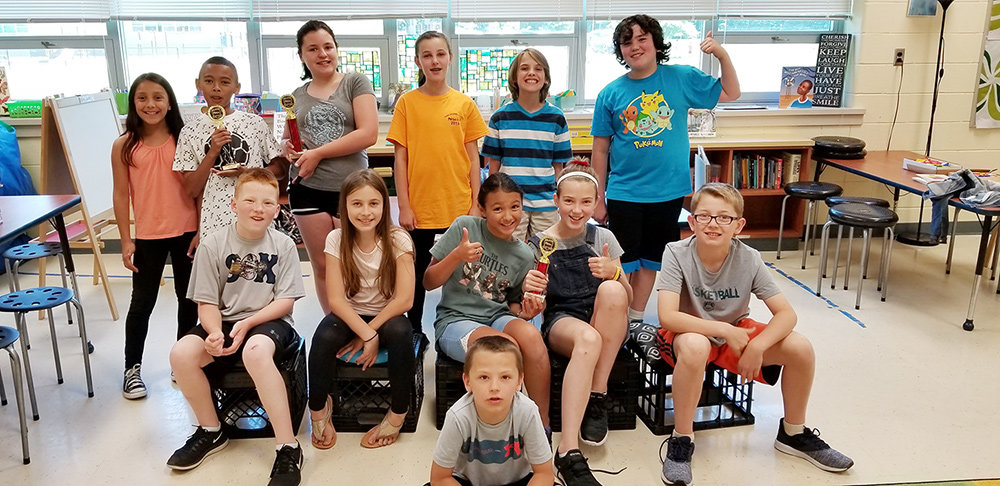 The 12 students on Lake Shore Elementary's MESA team earned three awards between county and state competitions.