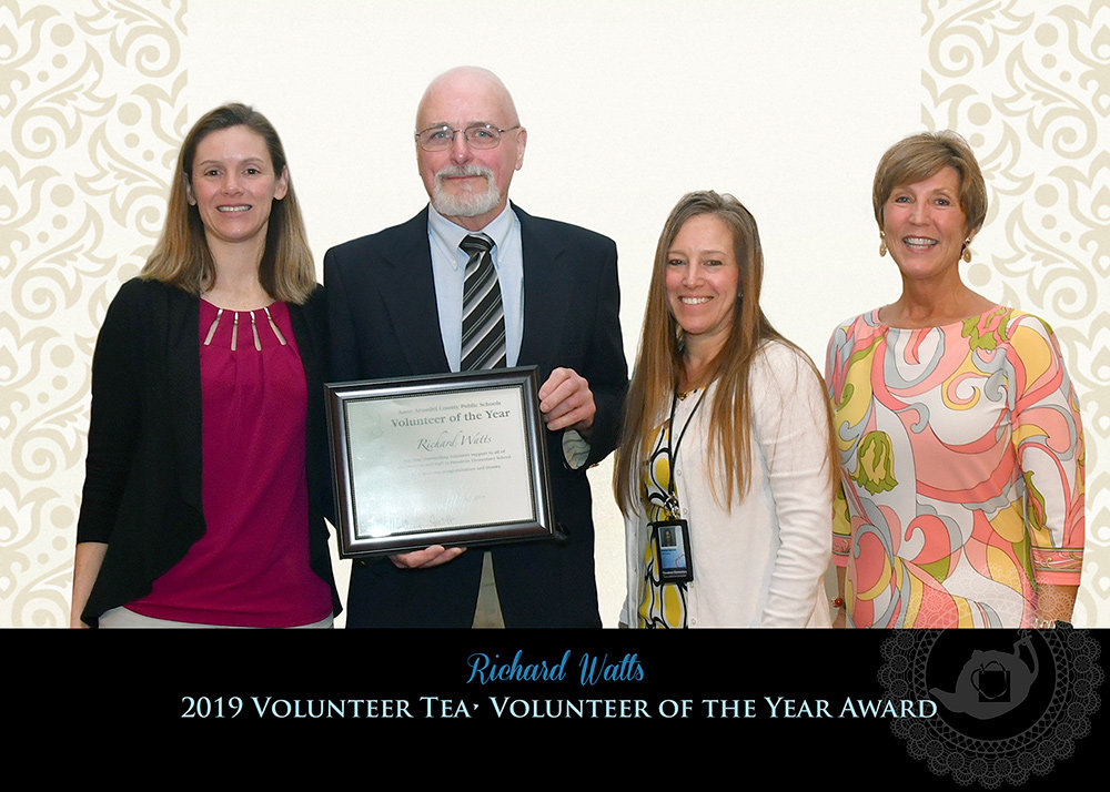 Richard Watts was named the AACPS Volunteer of the Year for his 14 years of service at Pasadena Elementary School.
