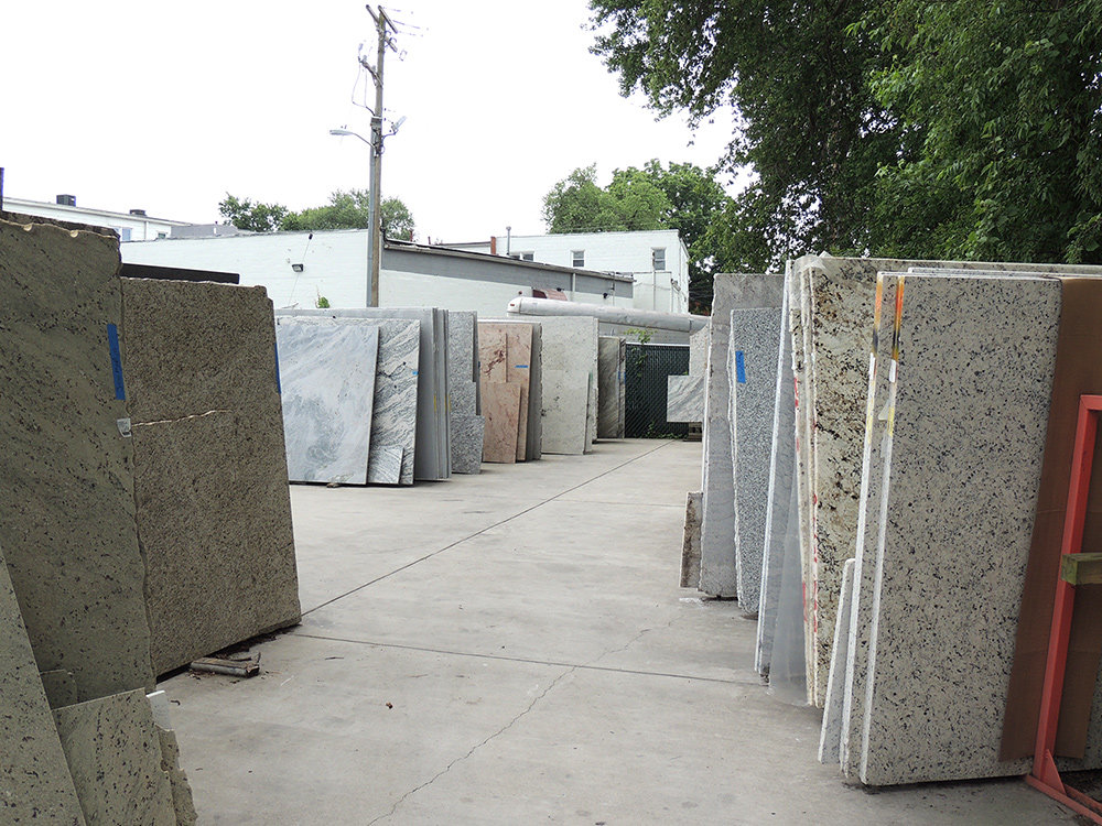 """We keep a couple hundred slabs of granite in stock for quick turnaround,"" Lisa Wendling explained."