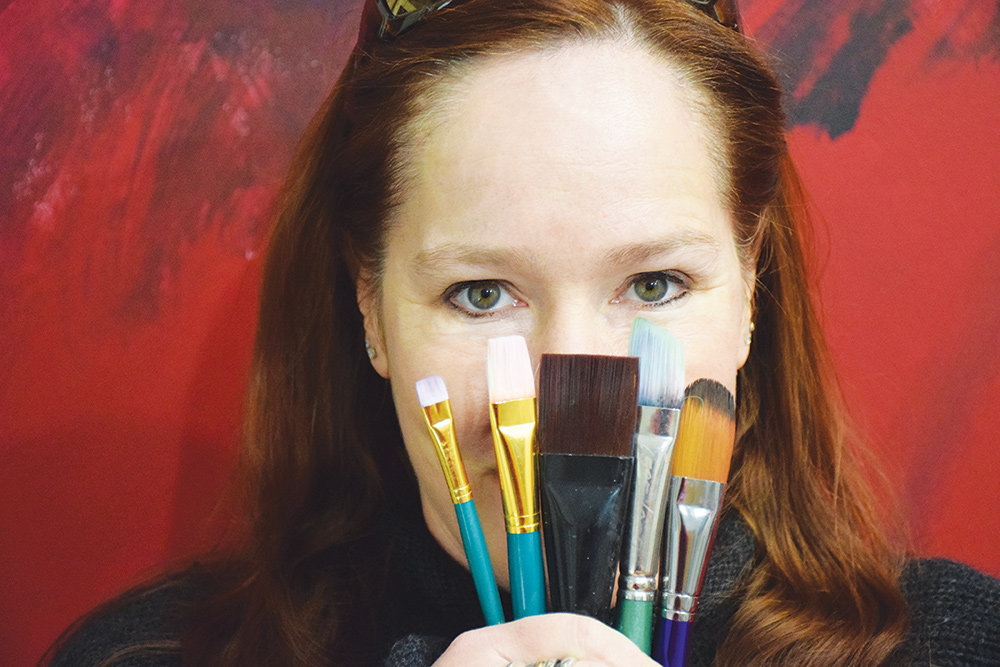 As an abstract painter, Jen Sterling has a compulsion to help others feel excited by color.