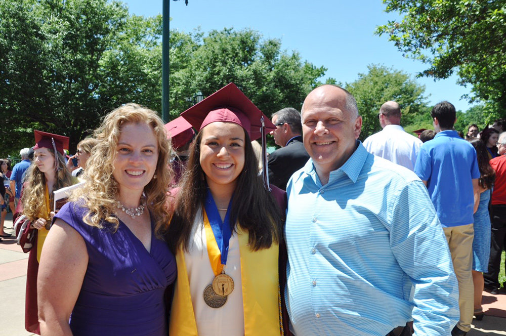 Meghan Figueras (right) was the valedictorian of the Broadneck High School class of 2019.