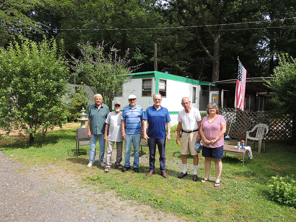 Residents of Dogwood Senior Mobile Home Park in Arnold enjoy their quiet community tucked in the woods just off Ritchie Highway. Although the property is under contract and they expect they will have to move soon, many of them do not have plans as to where they will go.