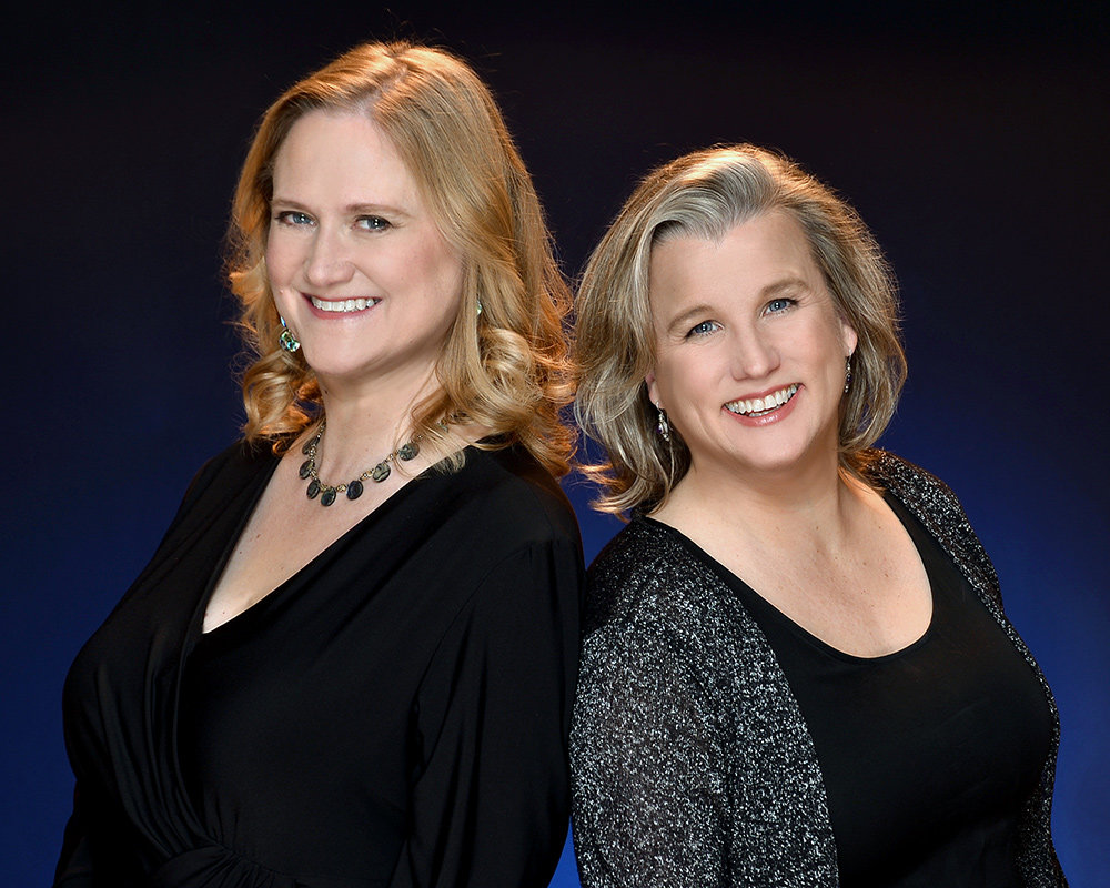 Diane Kinsley (left) and Julie Kurzava perform songs mostly from the American Songbook.