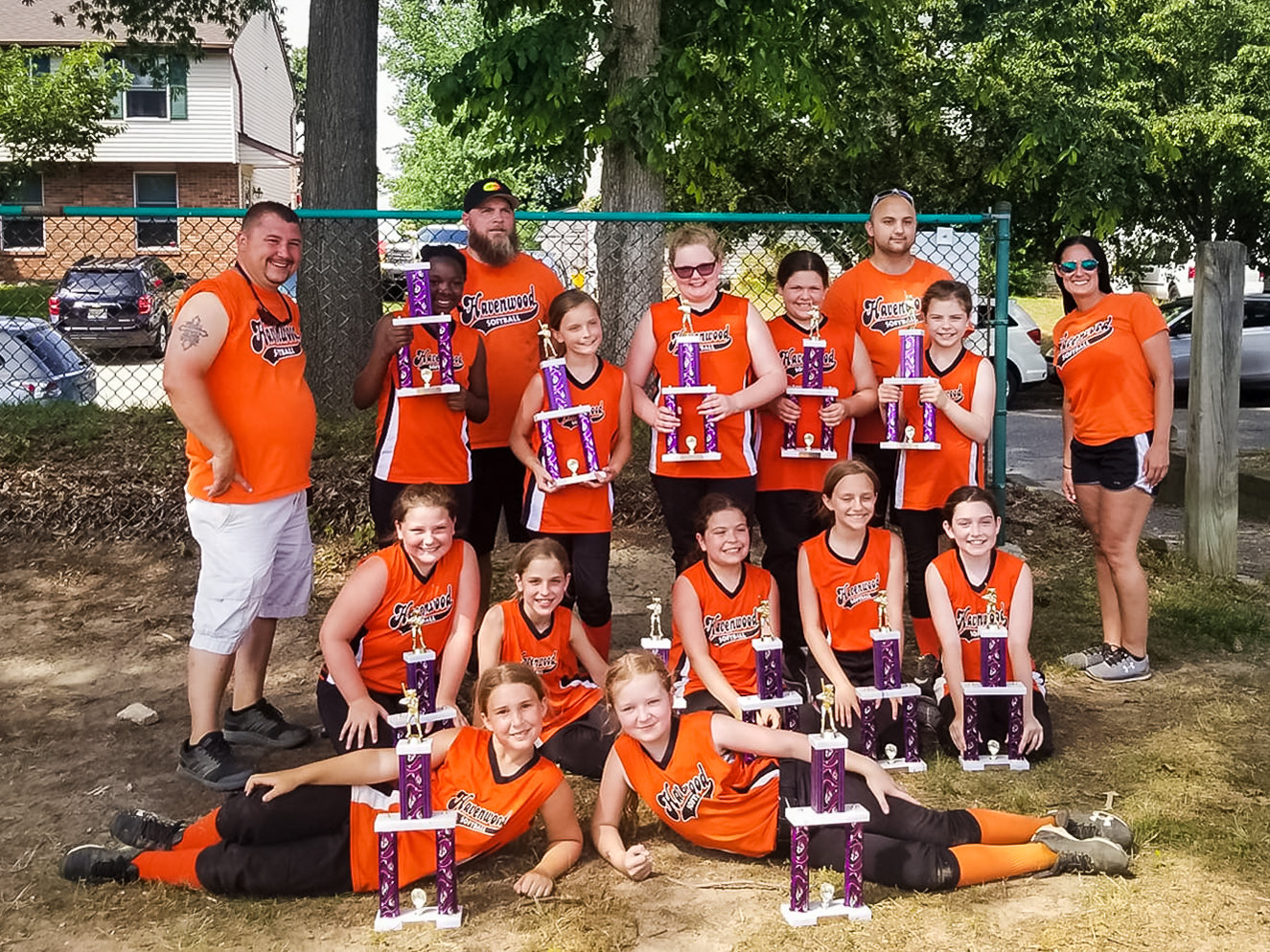 The Havenwood Heat defeated the Havenwood Power twice in the championship doubleheader of the double-elimination tournament to win the 10U county crown.