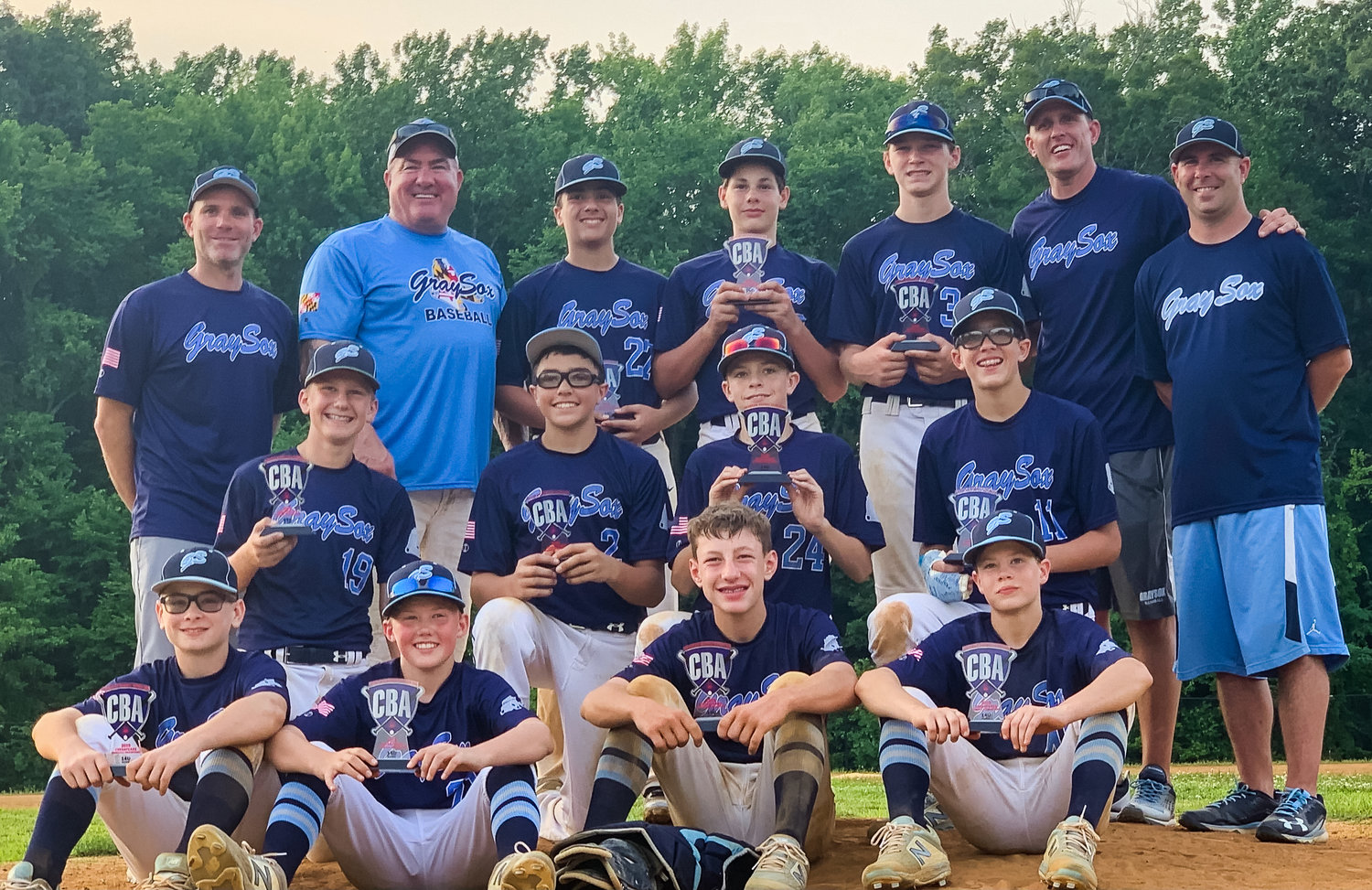 The Lake Shore 13U Gray Sox played up in age and still won the Chesapeake Baseball Association 14U championship.