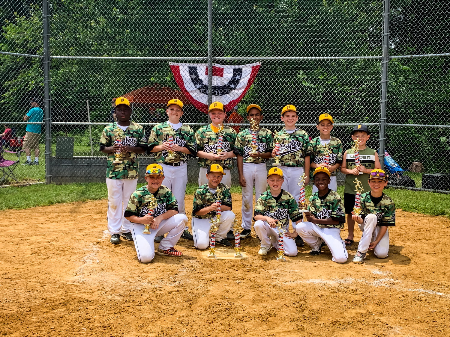 The 9U Pasadena Eagles Gold baseball team won the championship of the Maryland Stars and Strikes Tournament and has played well all summer on the competitive tournament circuit.