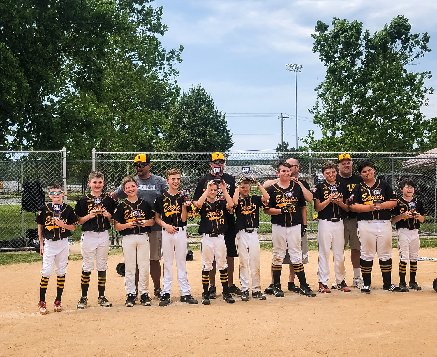 The 12U Pasadena Eagles Black baseball team staged an impressive comeback to overcome a 17-run deficit and defeat GORC 26-25 in the Chesapeake Baseball Association Silver Bracket postseason tournament championship game.