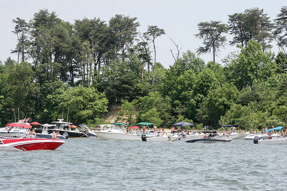 Although Dobbins Island is privately owned, boaters and swimmers are allowed to recreate around and up to the mean high tide line.