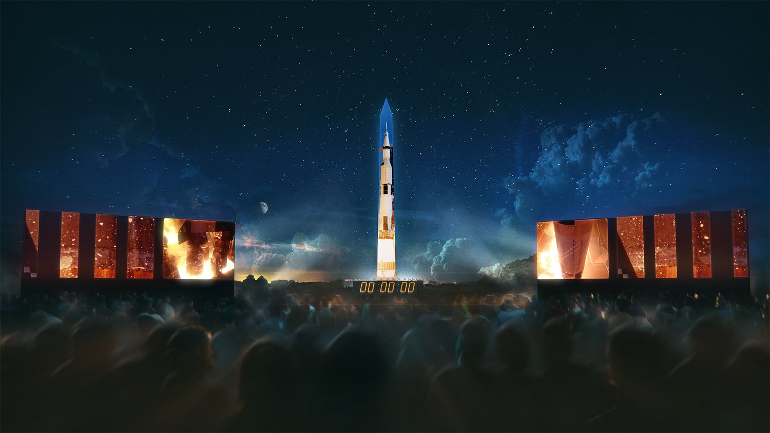 """Apollo 50: Go for the Moon,"" a special 17-minute show, will combine full-motion projection-mapping artwork on the Washington Monument and archival footage on screens located on the National Mall near the Smithsonian Castle to recreate the launch of Apollo 11 and tell the story of the first moon landing."