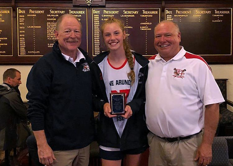 "Indian Creek's Molly Bunker was the winner of the prestigious Lyn Jones Award for the player who best exemplifies the ""Friendship Through Lacrosse"" ideals of the CrosseOver Tour."