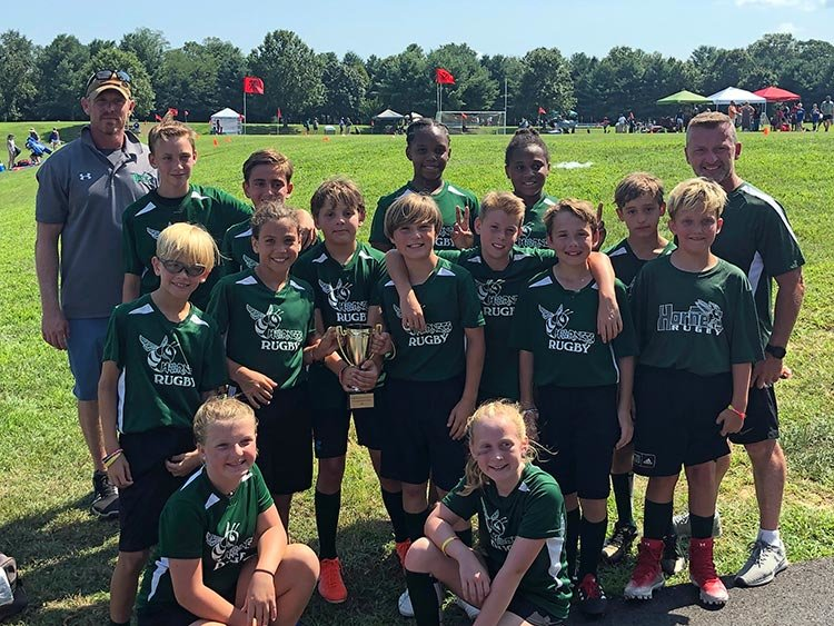 The U11 Green Hornets went 4-0-1 at the Maryland Youth Rugby Festival and defeated the Lutherville-Timonium Vipers in the Championship Division final to win the state championship.