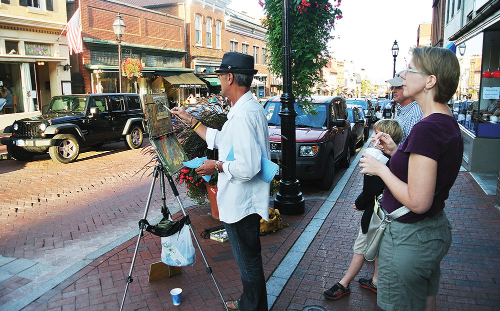 The annual Annapolis Art Walk is a great chance to peek over an artist's shoulder and watch them at work.