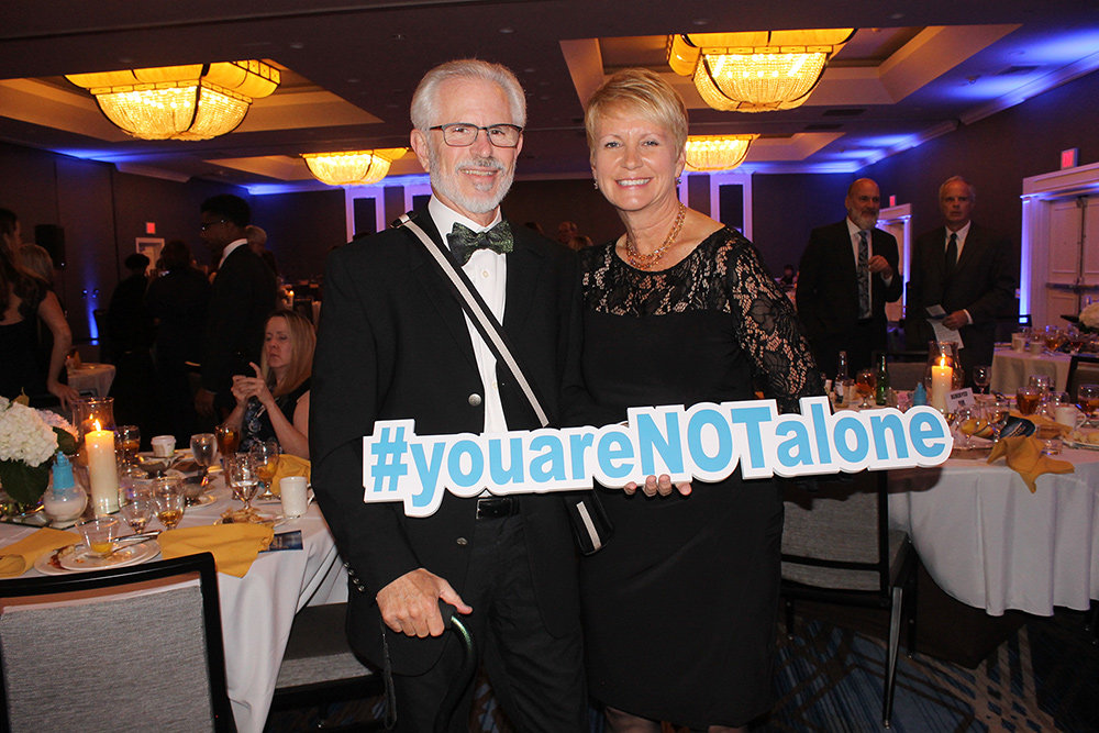 "The theme of the NAMI Anne Arundel County gala was ""You Are Not Alone."""