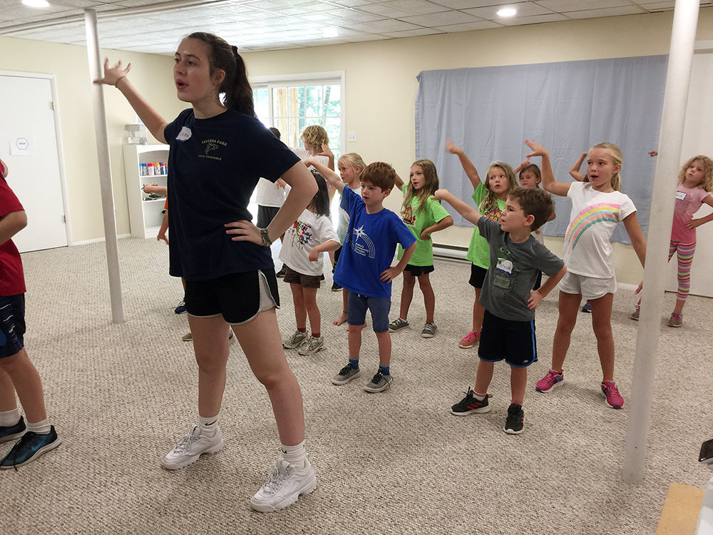 Whether they were dressed as mermaids or wearing nautical-themed outfits, all 16 Glen Oban children got coaching on the basics of acting, singing and dance during Camp Triple Threat in August.