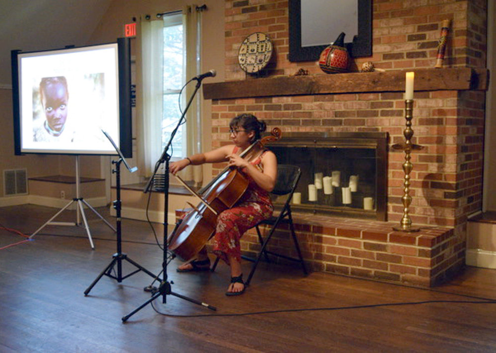 Simmone Wallace held a fundraiser at Ulmstead Barn on August 18, raising $1,000 for UNICEF in South Sudan.