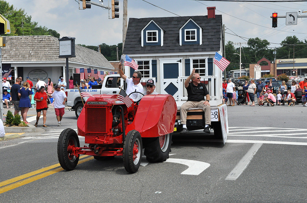 The playhouse was showcased at the annual Severna Park Fourth of July parade.