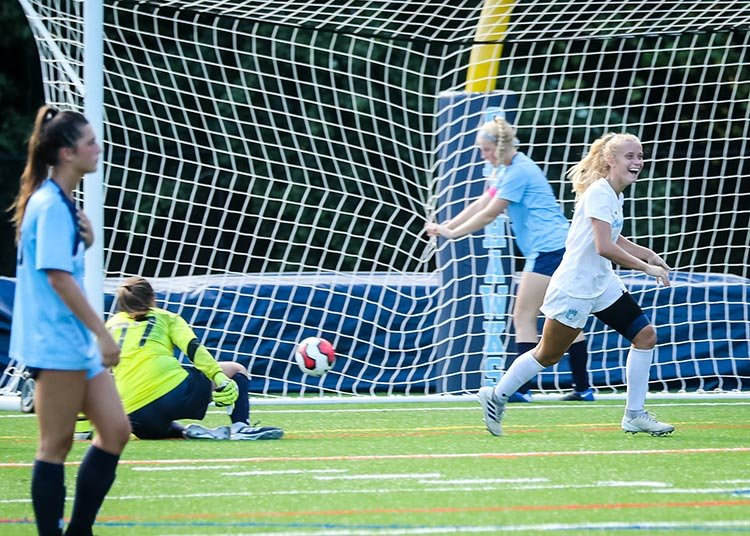 Brooke Hurst's two goals against South River, including this one in the second half, helped Chesapeake to a 2-2 tie with the Seahawks, a result not achieved by the Cougars girls soccer program since 2008.