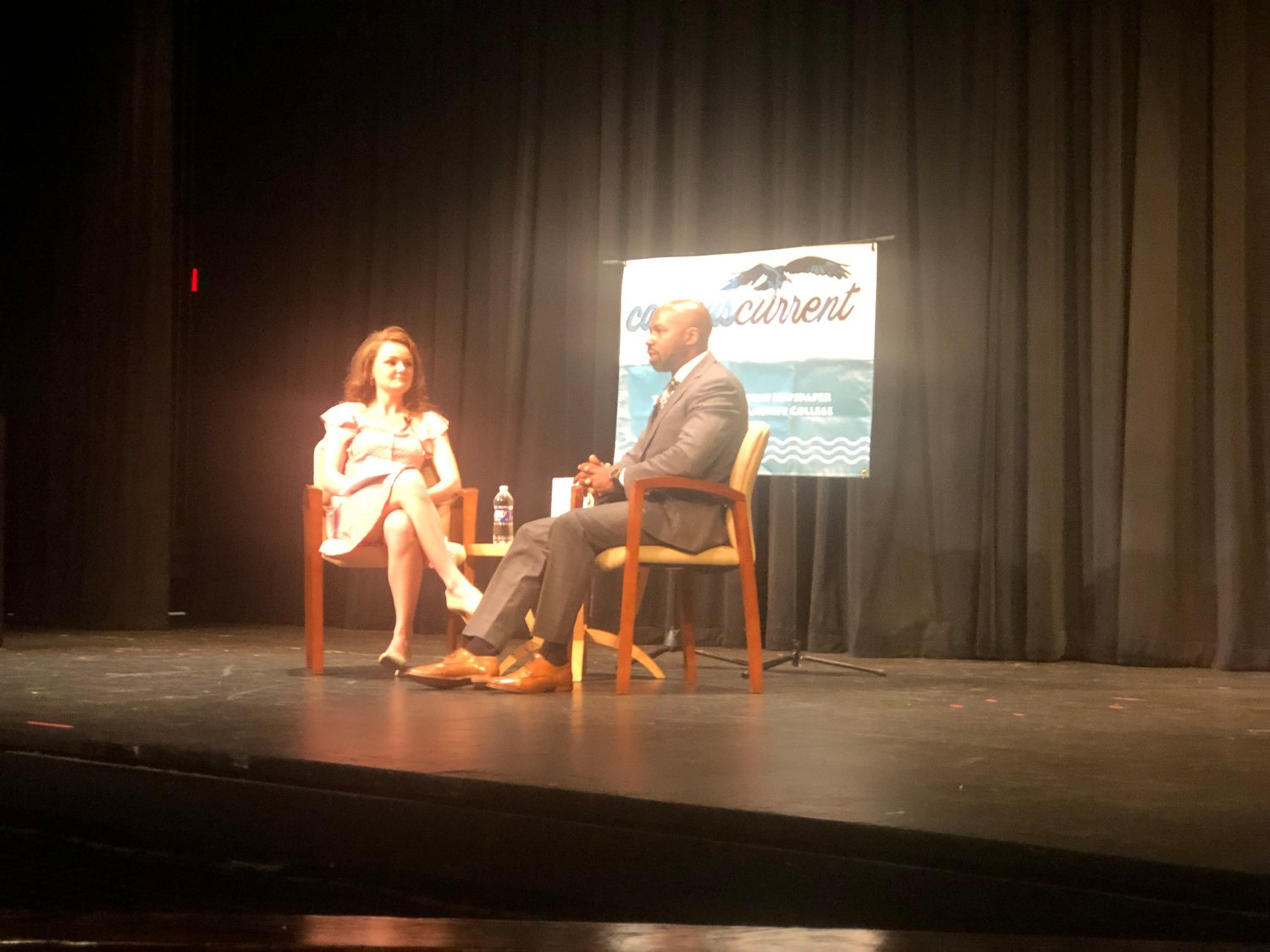 Chris Wilson was interviewed by AACC graduate Alexandra Radovic at the Robert E. Kauffman Theater on September 30.