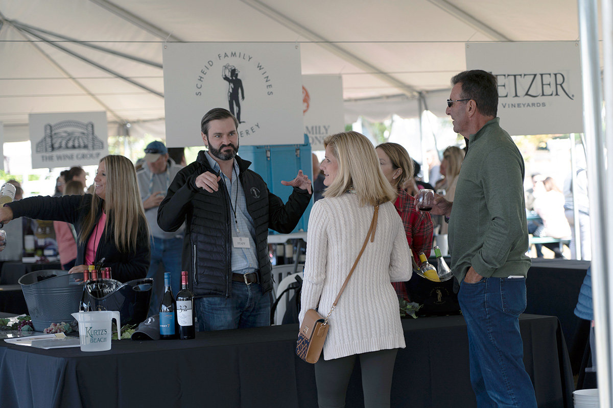 A staff member from Scheld Family Wines winery talked to guests.