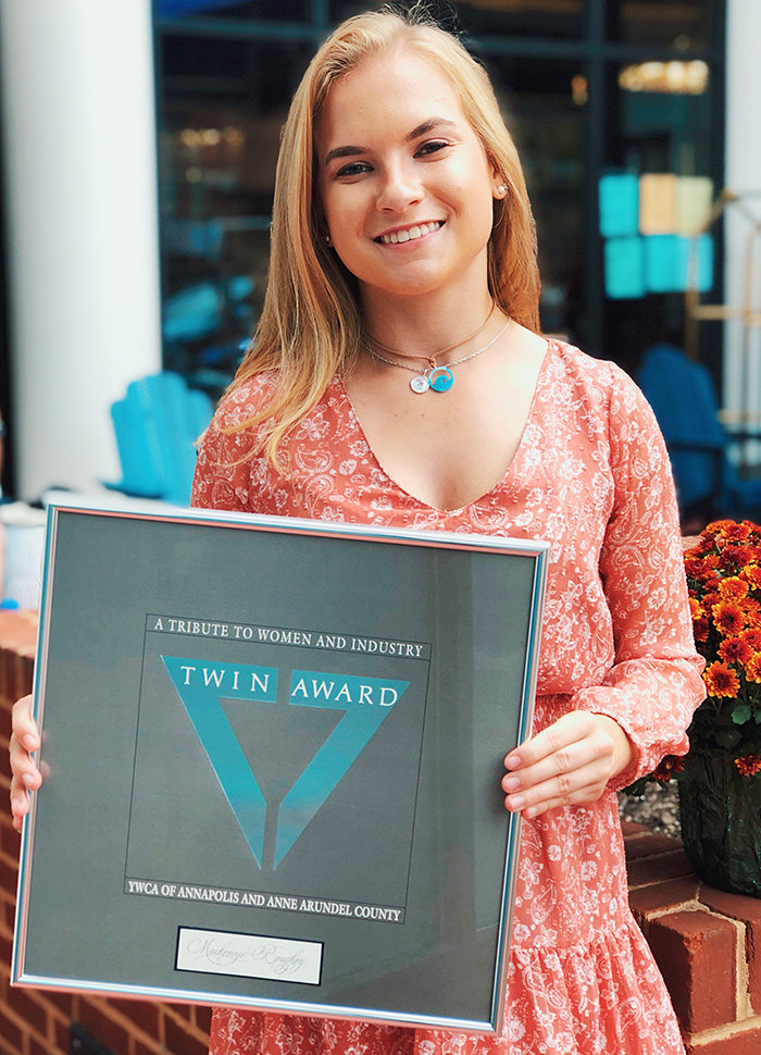 In September, Severn School senior Mackenzie Boughey became the first-ever recipient of a Tribute to Women and Industry (TWIN) Award in the youth category.