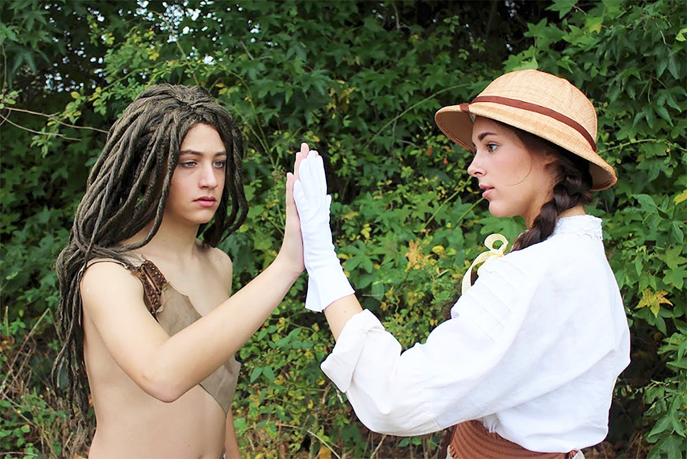 "Liam O'Toole (left) stars as Tarzan and Zoe Argabright as Jane Porter in ""Tarzan"" at Children's Theatre of Annapolis."