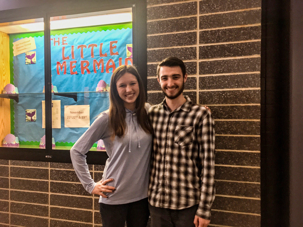 The cast comprises 40 students, including Lillie Jewell and Zach Demers as Ariel and Prince Eric, respectively.