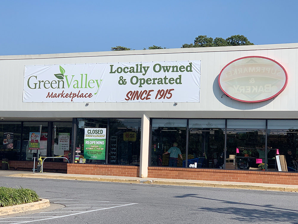 The B. Green team had only two days to transition Lauer's Supermarket & Bakery into Green Valley Marketplace.