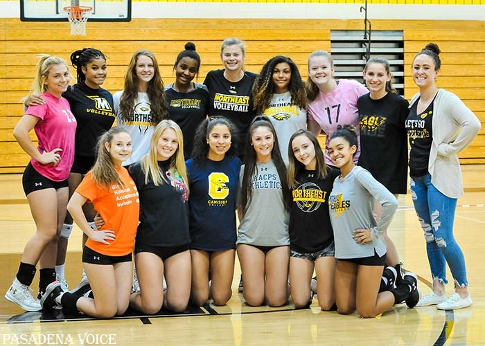The Northeast volleyball team was happy to be back at practice on November 1, a day after winning its opening-round playoff game against Oxon Hill. The Eagles defeated J.M. Bennett on November 4 and play in the 3A South Region II final on November 6.
