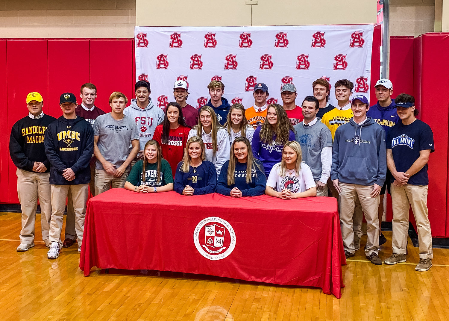 Archbishop Spalding signees gathered for a ceremony in the gym on November 13.