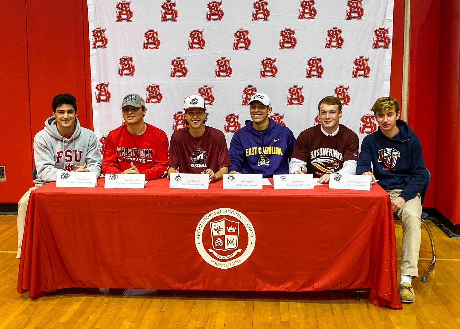 Spalding's baseball program has six student-athletes heading to play in college.