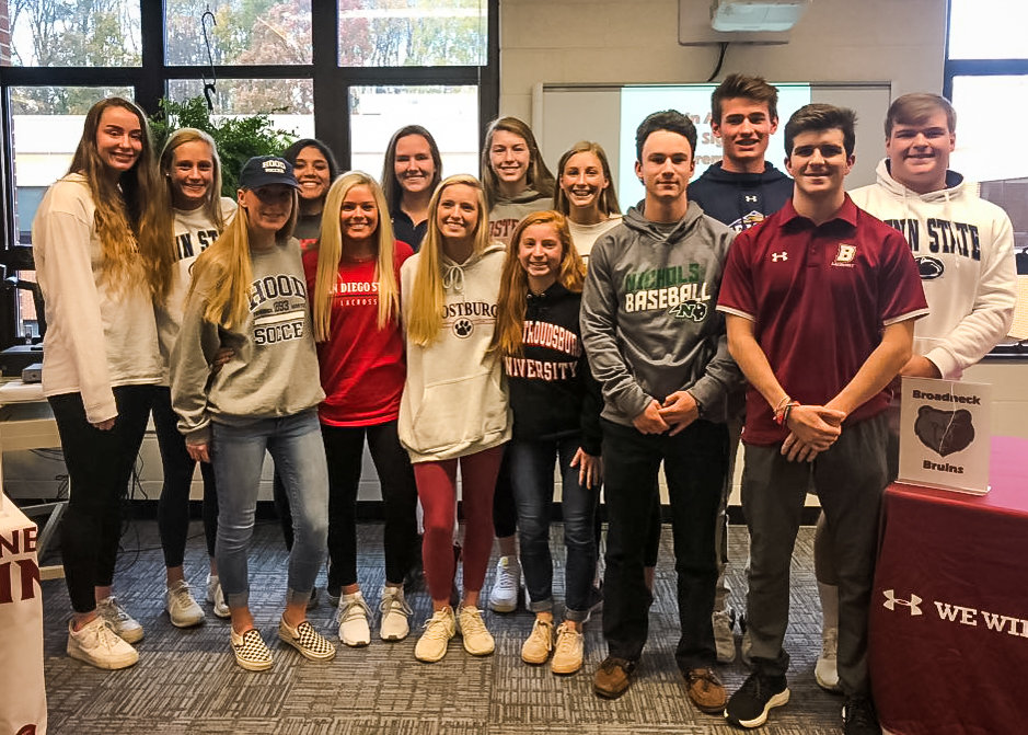 Broadneck had 14 student-athletes bound for college who made their commitments official on November 14.