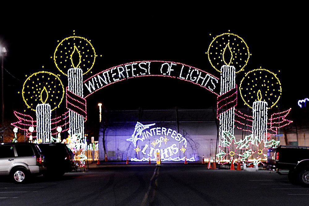 Over 1 million holiday lights, hundreds of animated light displays and a 50-foot Christmas tree are part of Winterfest of Lights in Ocean City.