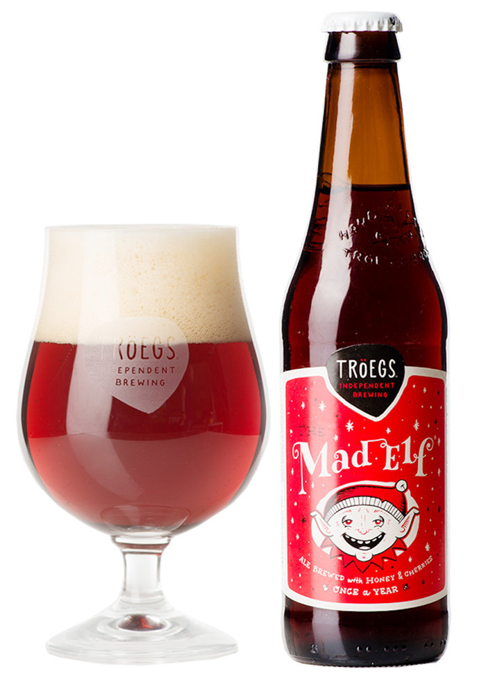 Troegs Mad Elf has a flavorful combination of chocolate malt, cherries and honey.
