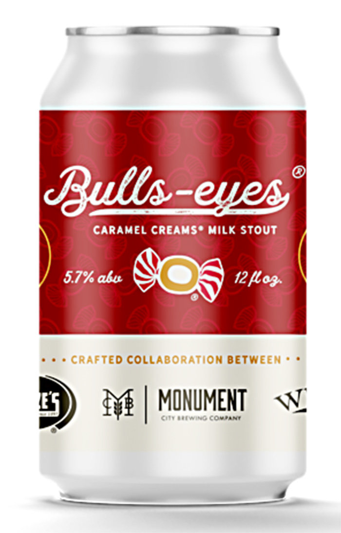 Monument City Brewing Company's Bulls-Eyes Caramel Creams milk stout is inspired by Goetze's famous caramel cream candies.