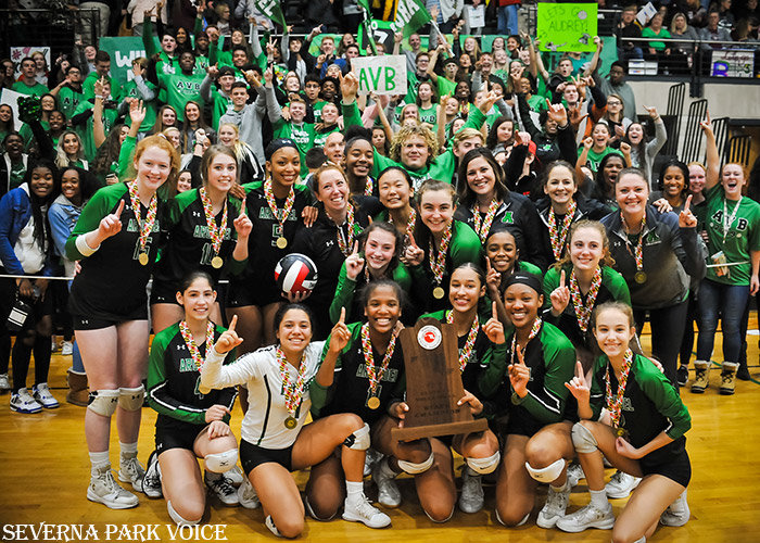 The Wildcats finished the season 21-1 and won the program's first-ever state championship with a five-set win over Broadneck at the University of Maryland on November 16.