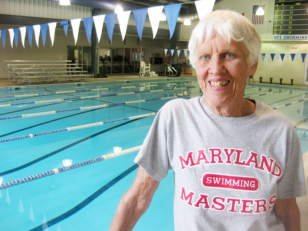 Nancy Brown led a local Maryland Masters swimming team to 10 YMCA Masters Nationals championships and numerous top three finishes in the women's, men's and combined team divisions.