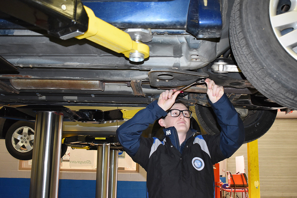 Cole Kraycik of Severna Park was already pursuing a job in the automotive field when he learned about the programs at CAT South.
