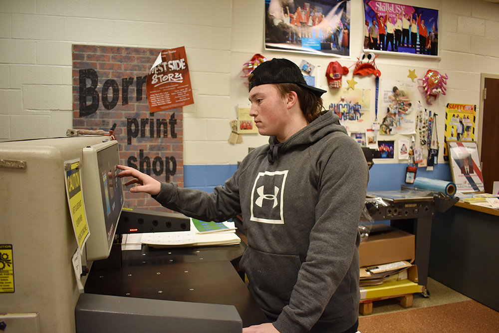 Mason Dickey of Northeast High School said he chose printing because he enjoyed seeing the project the whole way through.