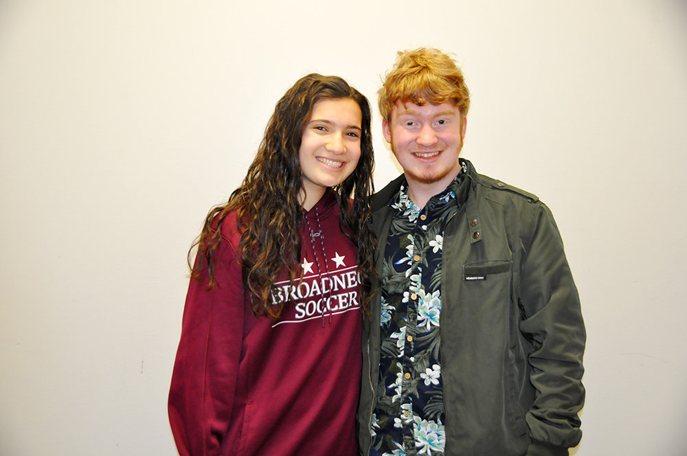 Broadneck High students Blake Martin and Madeleine Stern took home second-place honors in the Young Authors Contest.