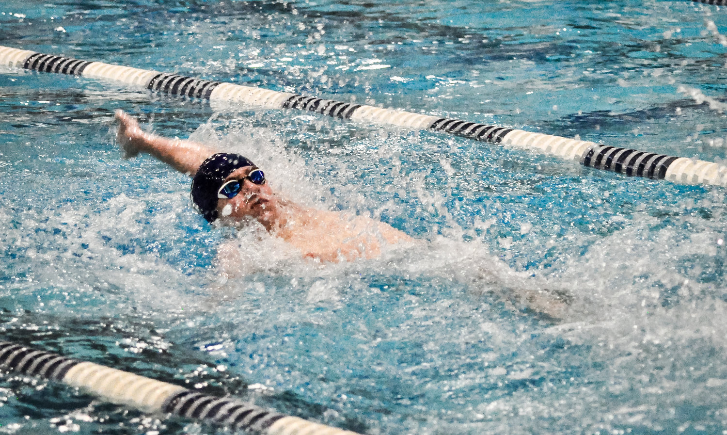 Severna Park's Tyler Moran won the 100 yard backstroke with a time of 56.24 seconds.