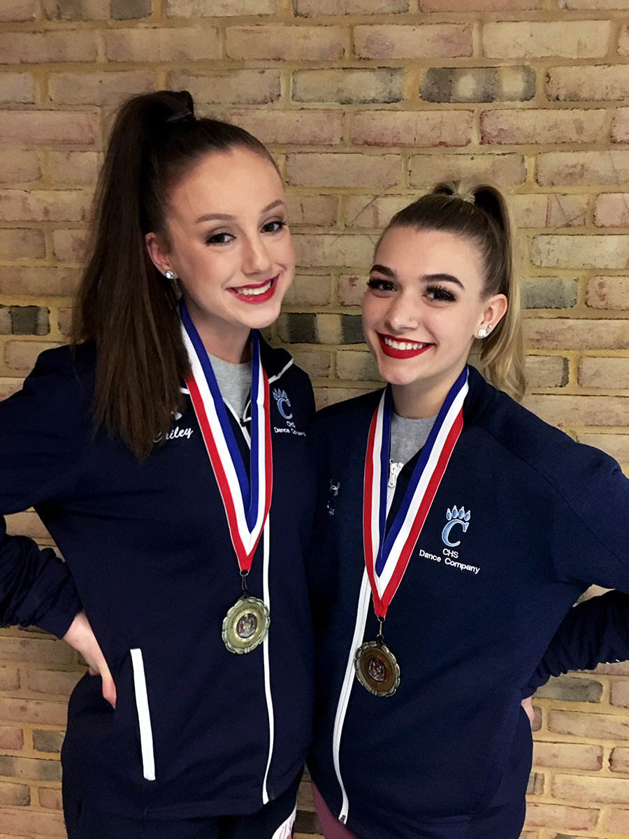 Cailey Solano and Paige Gibson were named All-State dancers.