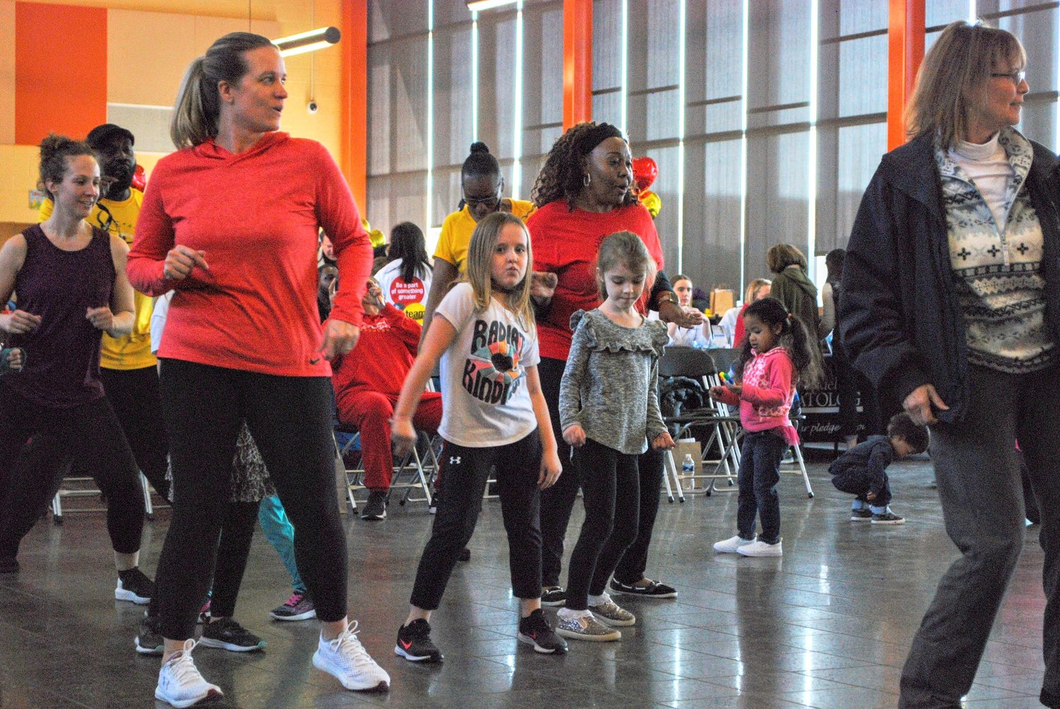 NRGETIC 4 LYFE encouraged families to participate in dance routines as part of a plan for a healthy heart.