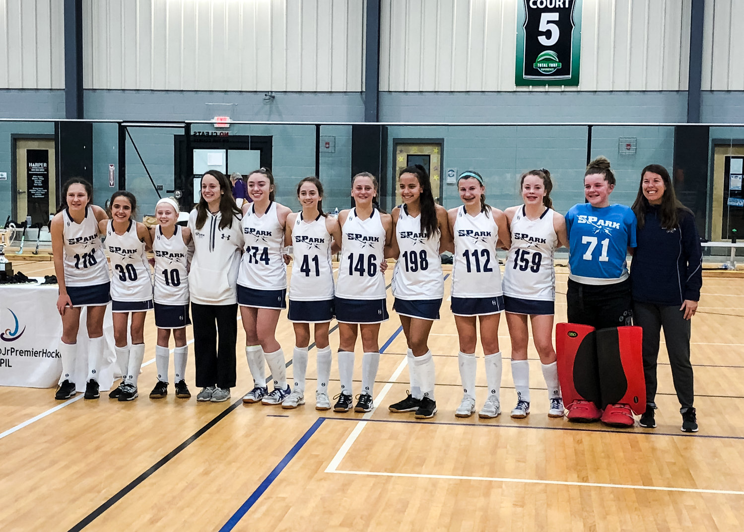 The SPark U14 Blue field hockey team went 12-1 in the Junior Premier Indoor League, winning the championship over Central Penn Purple in a shootout, 3-3(6-5) on February 8.